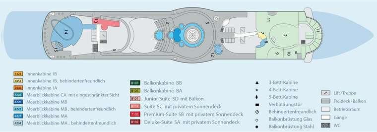 AIDAbella - Deck 12