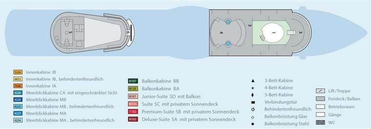 AIDAbella - Deck 14