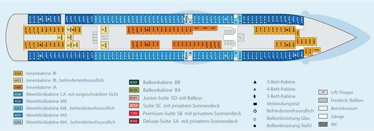 AIDAbella - Deck 4