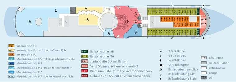 AIDAbella - Deck 9