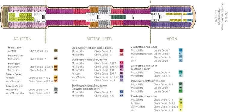 Queen Elizabeth - Deck 6
