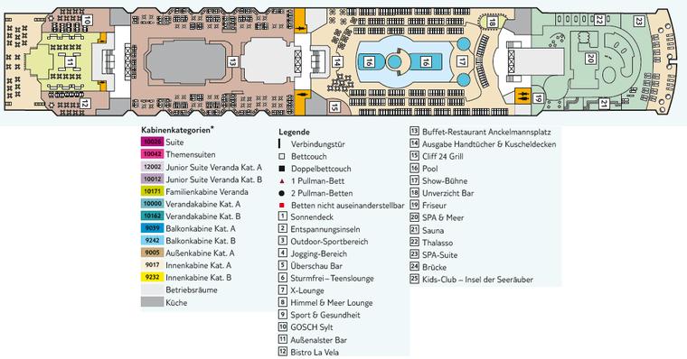 TUI Mein Schiff 2 - Deck 11 Aqua