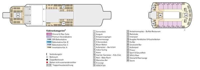 TUI Mein Schiff 3 - Deck 15 Möwe