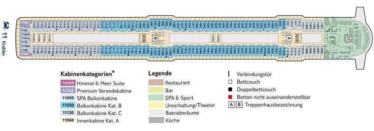 TUI Mein Schiff 5 - Deck 11 Krabbe