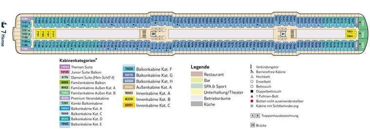 TUI Mein Schiff 5 - Deck 7 Hanse