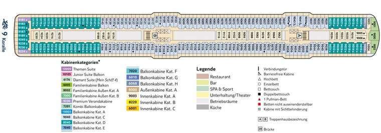 TUI Mein Schiff 5 - Deck 9 Koralle
