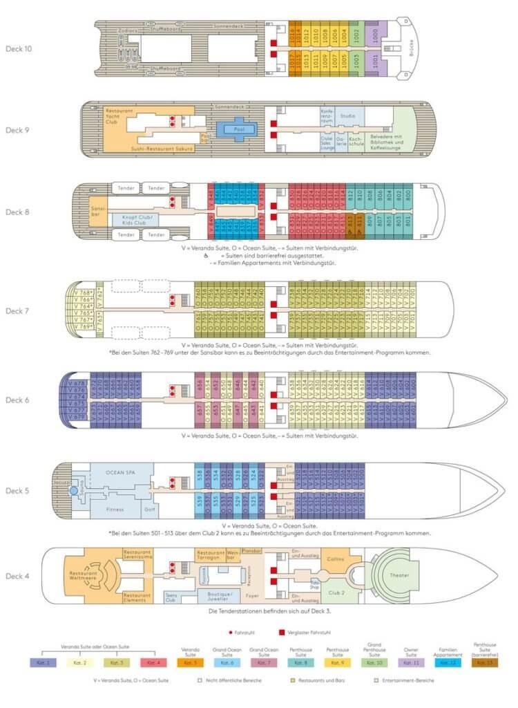 MS EUROPA 2 Deckplan